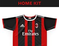 AC Milan Football Kit 18/19.