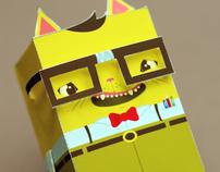 Paper Toy - Nerd Cat
