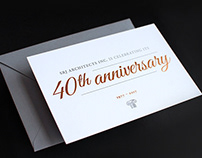 SRJ Architects 40th Anniversary Card