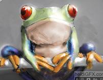Digital Sketch of a frog