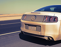 Creative Mustang Car Photoshoot