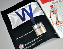 Valspar & Chicago Cubs Scorecard Ad