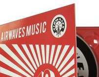 Airwaves Music graphic profile and cover art