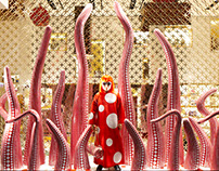 Window design: YAYOI KUSAMA WINDOWS _ Louis Vuitton