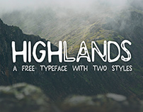 Highlands - Free Font