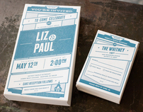Liz & Paul / Wedding Invites