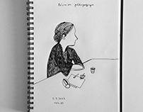 Sketchbook drawings, june/july 2017