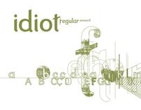 Idiot Font Design