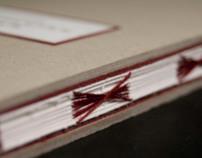 Libro, empaste hecho a mano