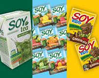 Olvebra Soy Line packaging