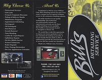 Bill's Detailing Brochure Redesign 2012
