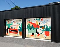 Mural in Limoilou