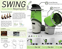 """SWING"" Glass Bottle Recycling Bin"