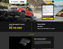 Promotional Landing Page for Jeep Renegade