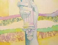 Lady Liberty watercolor - ACLU - Michigan