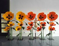 Lenzing . Kwun Tong showroom paperflower props