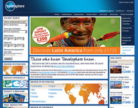 Travelsphere website design
