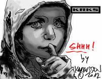 """Dibujando """"Shhh! Silencio"""" by karkussen"""