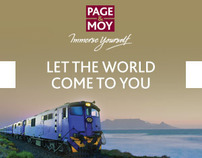 Page & Moy Rail travel banners