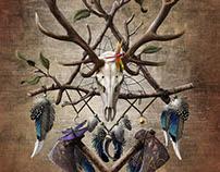 Deerskull dreamcatcher v1