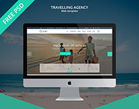 Travelling Agency PSD Template