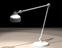 The lamp project with scaleable joint