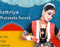 Website for Prateesha Suresh, Sattriya dancer