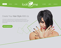 "Landing page ""Look at Me"""