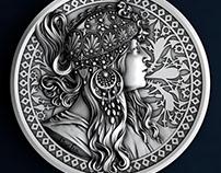 рельеф для монеты
