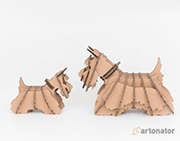 Cardboard Dogs For Cartonator