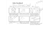 Storyboard for Christmas Card