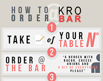 """How to order @ KRO bar"" Infographic"