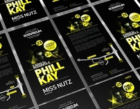 Flyer Phill Kay Scenárium NightClub
