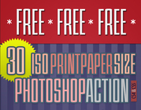 30 ISO Print Paper Size Photoshop action template