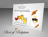 Pallet decoration and POS elements - Best of Belgium