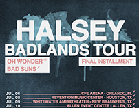 Halsey - Badlands Tour Posters