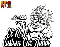 El Rey Custom Car Audio Stencil Logo