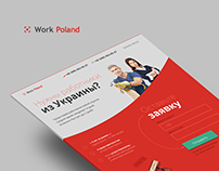 Landing page for Work Poland