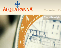 Acqua Panna.com - website design