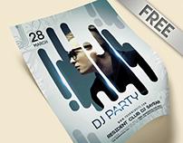 DJ Party Flyer PSD Template + Facebook Cover