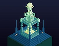 Isometric temple of the cats