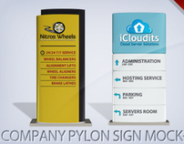 Company Pylon Sign Mock-up