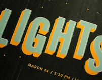 LIGHTS gig poster