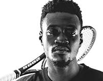 Tennis coach, Kev.