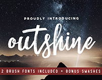 Outshine Brush Font Duo