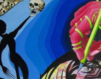 Summation acrylic painting