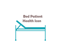 blue patient bed Health Icon