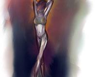 Procreate sketch on iPad Pro.