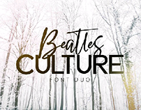 BEATLES culture-font duo