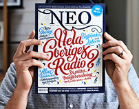 Hand-drawn typographic cover for Magasinet NEO.